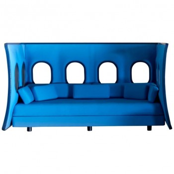 "Atelier Flown, ""Elevate"" Sofa, Lacquered plastic and ""kavadrat"" textile, 2012."