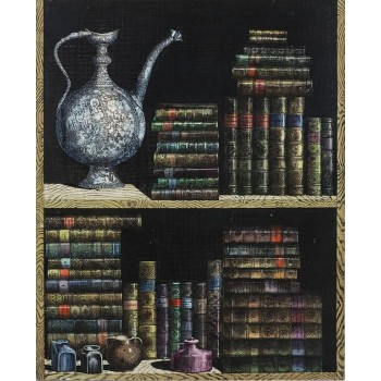 Piero Fornasetti, Pair of Doors of a Cupboard Made for a Private Custode, 1950.