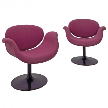 "Pierre Paulin, Pair of ""Little Tulip"" Armchairs, 163 Model, Artifort, circa 1965."