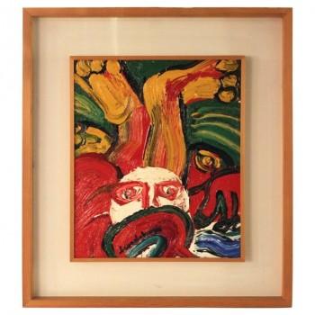 """Bengt Lindstrom, """"Testa Bianca"""" 1974, Oil on Canvas, Signed."""