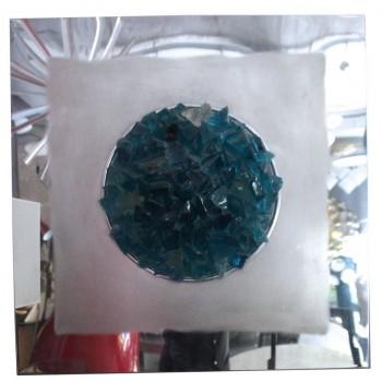 "Angelo Brotto,""Oceano"" Panel, Glass of Murano, Production Esperia, circa 1974."