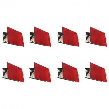 "Charlotte Perriand, Suite of Eight Red Sconces, Model ""CP1"",circa 1960, France."