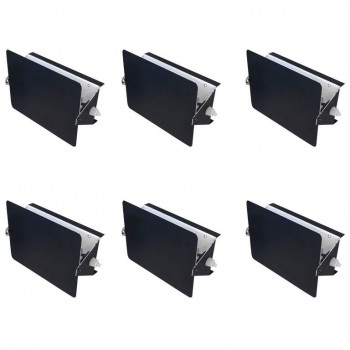 "Charlotte Perriand, Suite of Six Black Sconces, Model ""CP1"", circa 1960."