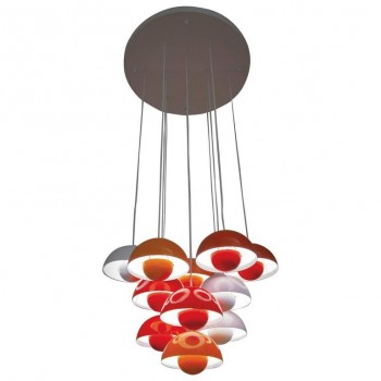 "Verner Panton, ""Flower Pot"" Hanging Lamp Manufactured by Louis Poulsen, 1968"