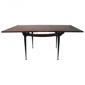 Attributed to Franco Albini, Dining Table, Rosewood, circa 1970.