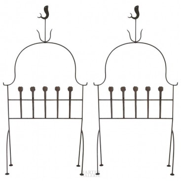 Pair of Headboard, Iron, circa 1960, France.