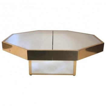 In the Style of Gabriella Crespi, Octagonal Coffee Table , circa 1970, Italy.