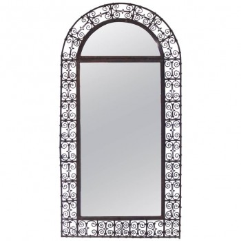 Mirror, Braided Iron, France, Circa 1970.
