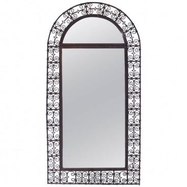 Mirror, Braided Iron, France, Circa 1970.