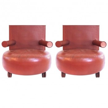 Antonio Citterio, Pair of Armchairs, Baisity Model for BB Italia, 1985, Italy