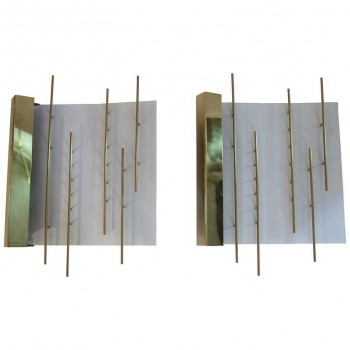 Gio Ponti Pair of Sconces Model 575, Lumi Edition, circa 2010, Italy