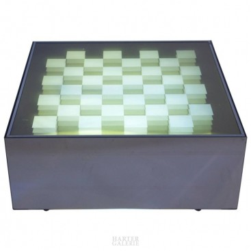 Yaacov Agam, Cinetic Table, Glass Top, circa 1970, France.