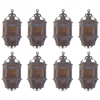 Suite of Eight Sconces, Iron, circa 1960, France.