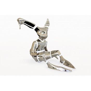 Kim Simonsson, Sculpture, Steel Bunny, Ceramic, Glass. Circa 2006, Finland.