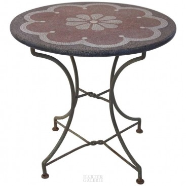Gueridon, Granite Top and Iron, circa 1970, France