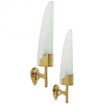 Max Ingrand, Pair of Sconces, Model 2080, Fontana Arte Production, 1950, Italy