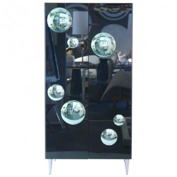 Lacquered Wood and Glass Cabinet, circa 2000, Italy