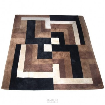 Sonia Delaunay, Composition 1925 Carpet, Wool, Signed, circa, France