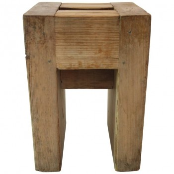 Jean Prouvé with Guy Rey-Millet, Set of 22 Stools, Wood, Refuge de la Vanoise