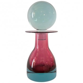 "Seguso, ""13986"" Model Bottle, ""Sommerso"" Glass, circa 1968, Italy"