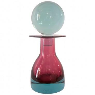 "Seguso, ""13986"" Model Bottle, ""Sommerso"" Glass, circa 1968, Italy"