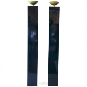 Michel Boyer, Born in 1935, Pair of Column Lights, circa 1970, France